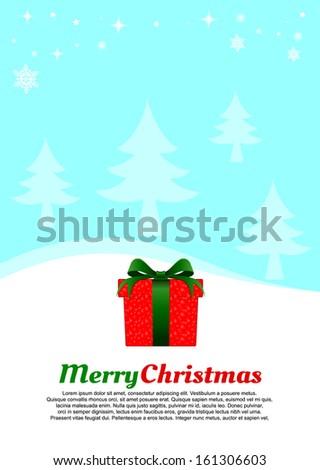 Christmas gift box.  - stock vector
