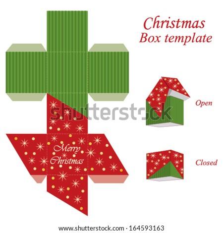 christmas gift box template - photo #7