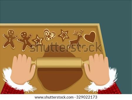 Christmas ginger breads - stock vector