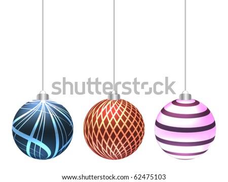 christmas globe - stock vector