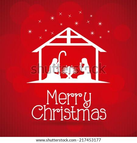 christmas graphic design ,vector illustration - stock vector