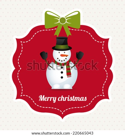 christmas graphic design , vector illustration - stock vector