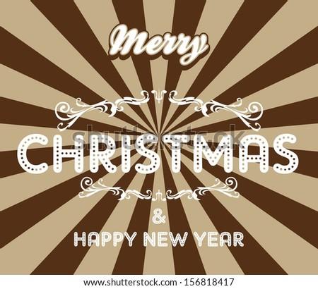 christmas greeting art - stock vector
