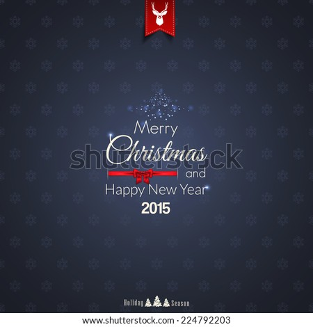 Christmas greeting card - holidays lettering. Vector - stock vector