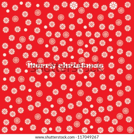 Christmas Greeting Card. Merry Christmas lettering, vector background - stock vector