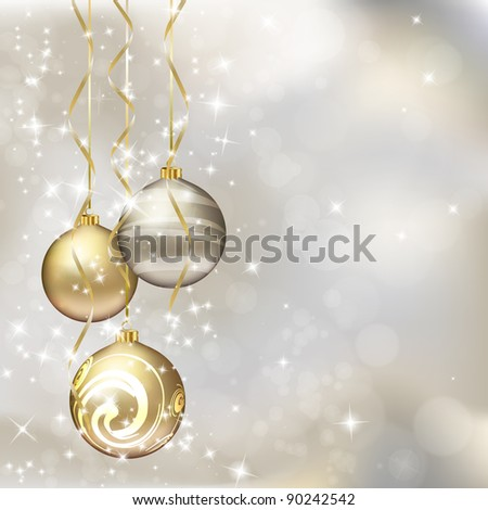 Christmas greeting card. Vector eps10 illustration - stock vector