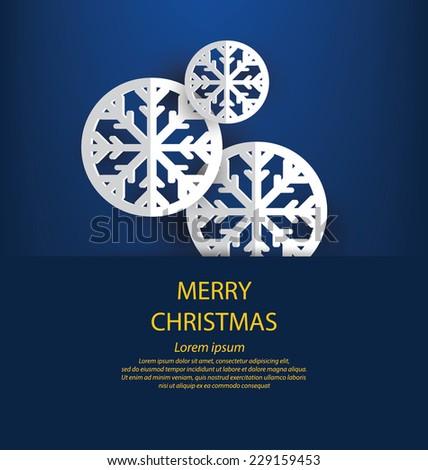 Christmas Greeting Card. Vector illustration. - stock vector