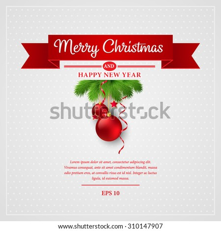 Christmas greeting card. Vector illustration EPS 10 - stock vector