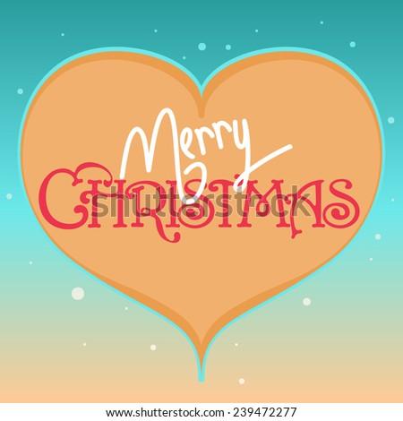 Christmas greeting card with Christmas heart - stock vector