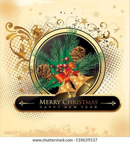 Christmas grunge Background - stock vector