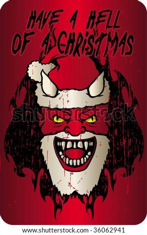 christmas hell - stock vector