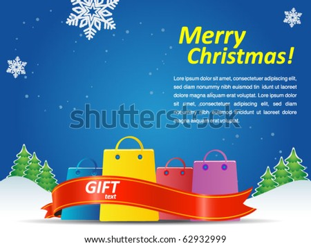 christmas holiday poster - stock vector