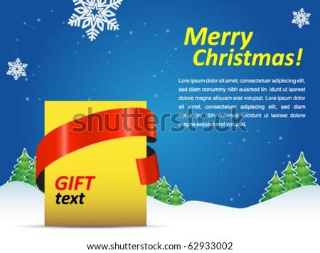 christmas holiday poster - stock vector
