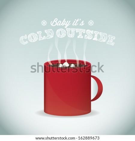 Christmas Hot Chocolate - stock vector