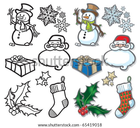 Christmas icons A selection of vector icon illustrations with a festive holidays theme. Easy to edit layers included, why not visit my portfolio… - stock vector