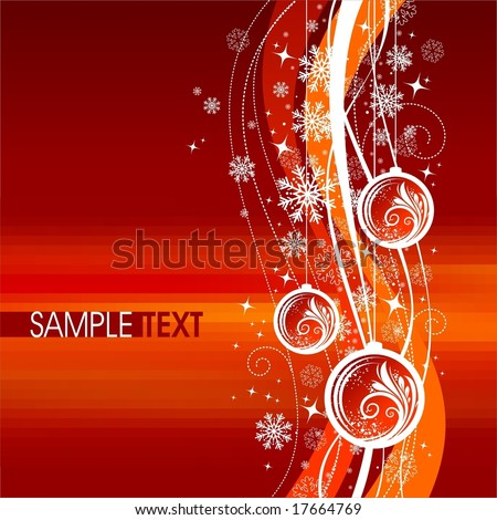 Christmas illustration - stock vector
