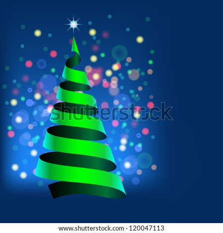 Christmas illustration with character of New Year. Vector. - stock vector