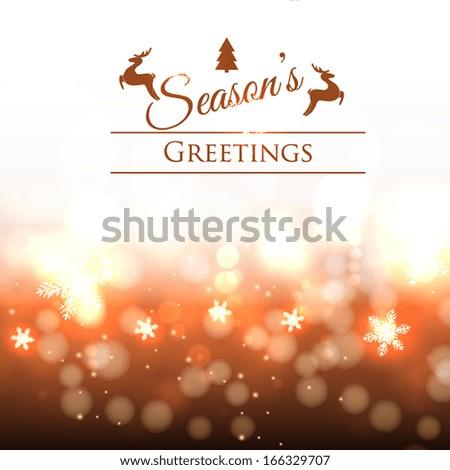 Christmas invitation - stock vector