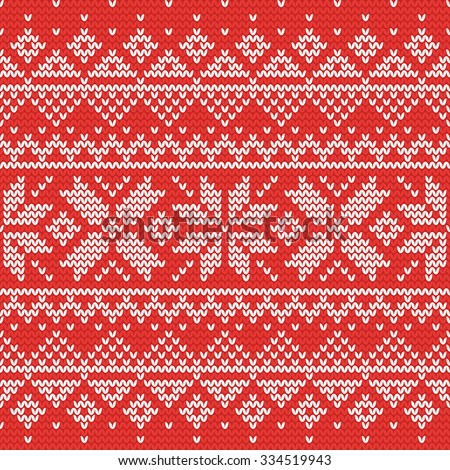 Christmas knitting seamless pattern with stars and triangles. Perfect for wallpaper, wrapping paper, pattern fills, winter greetings, web page background, Christmas and New Year greeting cards - stock vector