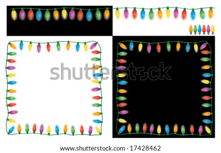 Christmas Lights Set. Easy To Edit Vector Image. - stock vector
