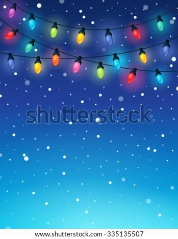 Christmas lights theme image 3 - eps10 vector illustration. - stock vector