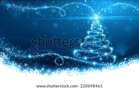 Christmas magic tree - stock vector