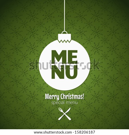 christmas menu special dishes design - stock vector