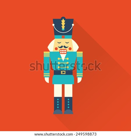 christmas nutcracker - stock vector