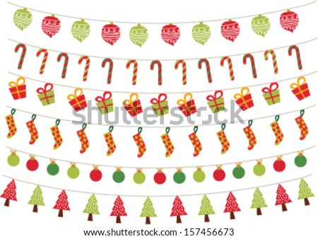christmas ornament pattern - stock vector