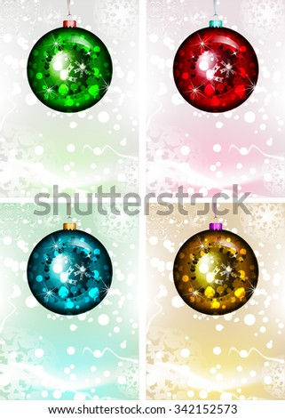Christmas Ornament Set. Vector Illustration. Merry Christmas - stock vector