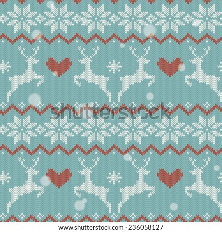 Christmas ornament with sweater texture - stock vector