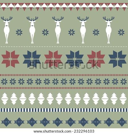 Christmas ornamental texture - stock vector