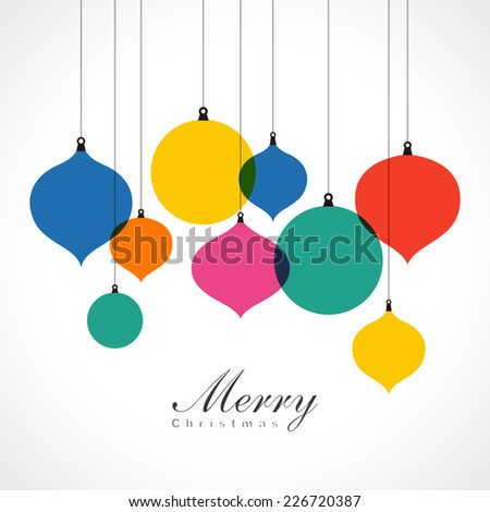 Christmas ornaments - colorful background - stock vector
