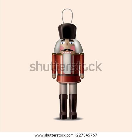 christmas ornaments nutcracker - stock vector