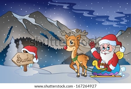 Christmas outdoor theme 5 - eps10 vector illustration. - stock vector