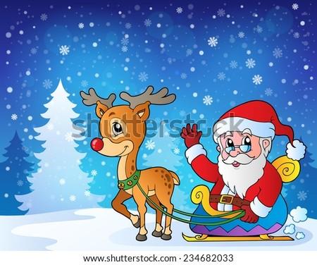 Christmas outdoor theme 9 - eps10 vector illustration. - stock vector