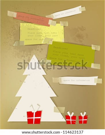 Christmas paper set - stock vector