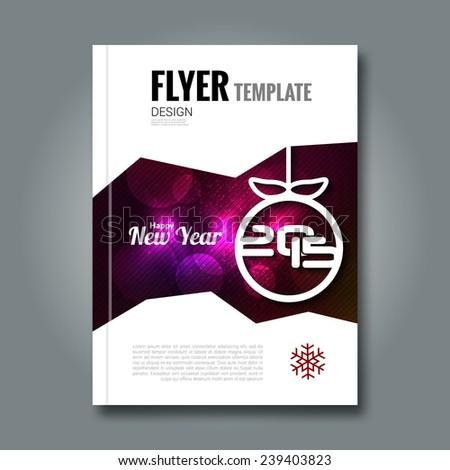 Christmas party invitation. Flyer design template Vector illustration.  - stock vector