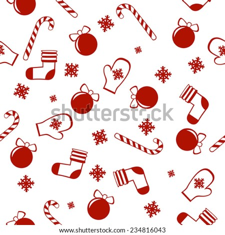 Christmas patter. Seamless vector. - stock vector