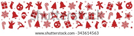 christmas pattern elements background - stock vector