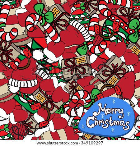 Christmas pattern with presents - stock vector