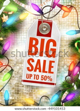 Christmas Poster Sale. Typography. EPS 10 vector file included - stock vector