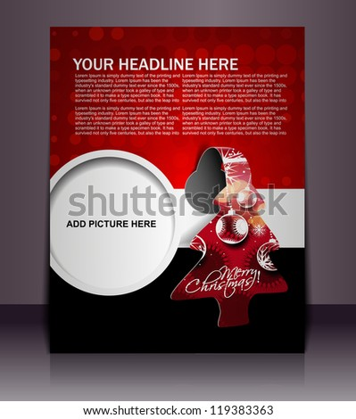 christmas poster, vector - stock vector
