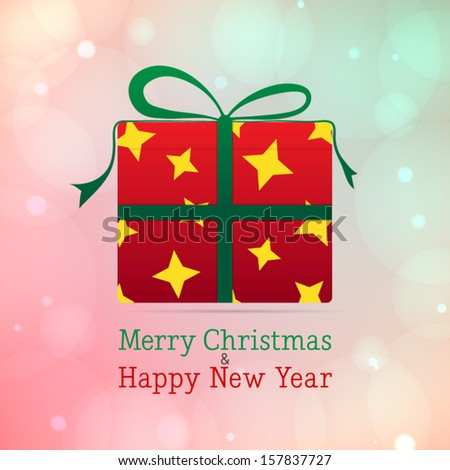 Christmas present vector background - stock vector