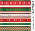 Christmas ribbons set - stock vector