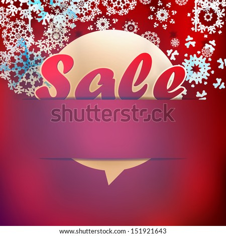 Christmas sale background. EPS 10 - stock vector