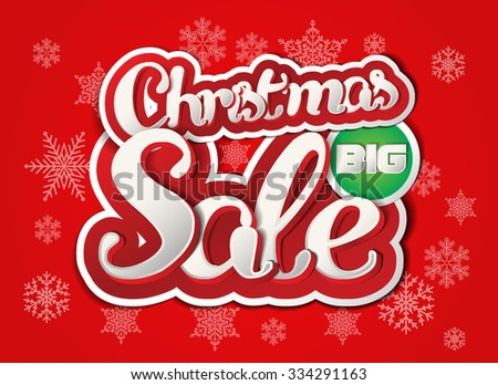 Christmas Sale background with Paper Folding Design / Winter Sale Paper Folding Design  - stock vector