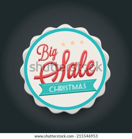 Christmas sale. Illustration vector - stock vector