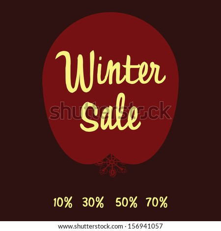 Christmas Sale Tag - stock vector