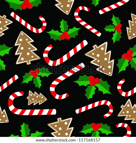 Christmas seamless - stock vector